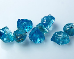 23.60 CT Natural - Unheated Blue Zircon Rough Lot