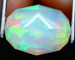 Welo Opal 2.24Ct Master Cut Natural Ethiopian Flash Color Welo Opal C2509