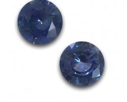 Carats|Natural Blue Pair Sapphire |Loose Gemstone| Sri Lanka-New
