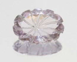 16.15 Ct Natural Amethyst Carved Oval 21x15mm-(SKU481)