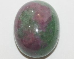 29.8 Ct Ruby Zoisite Oval Cabochon 19.3x15.3mm(SKU495)