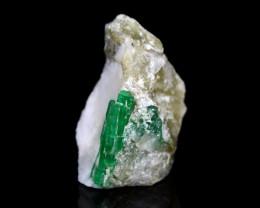 80 CT Ultra Rare Emerald With Quartz Specimen@ Pakistan