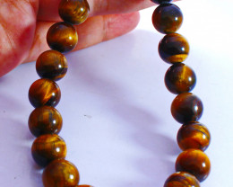 397 CT Natural - Unheated Golden Tiger Beads