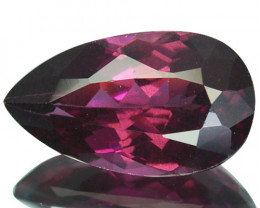 2.80 Natural Pinkish Red Rhodolite Garnet Pear Cut Mozambique