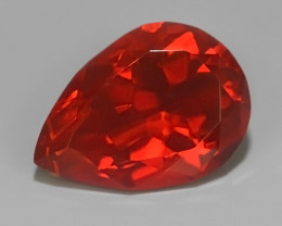 1.25 CTS BEST QUALITY~RED FIRE COLOR EXTREME LUSTROUS GENUINE FIRE OPAL!!!
