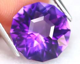 Uruguay Amethyst 4.01Ct VVS Master Cut Natural Violet Amethyst B2601