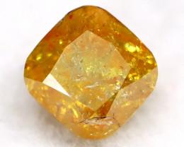 0.23Ct Natural Untreated Fancy Yellowish Orange Diamond BM0407