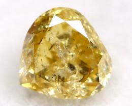 0.18Ct Natural Untreated Fancy Yellow Diamond BM0408