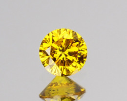 0.05 Cts Natural Diamond Vivid Yellow 2.44mm Round Cut Africa