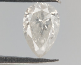0.20 CTS , White Diamond , Pear Brilliant cut , untreated Diamond