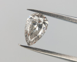 0.22 CTS , Salt And Pepper Diamond  , Natural Pear Brilliant cut Diamond