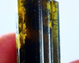 34.15 CT Natural - Unheated Yellowish Green Epidot Crystal