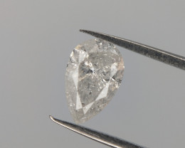 0.32 CTS , Salt And Pepper Diamond , Natural Pear Brilliant cut .