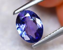 Tanzanite 1.21Ct Natural VVS Purplish Blue Tanzanite ER135/D3