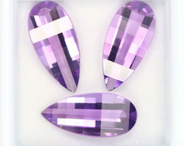 NR$15 6.68Ct Natural Amethyst Calibrated 15x7mm Precision Cut MD2821