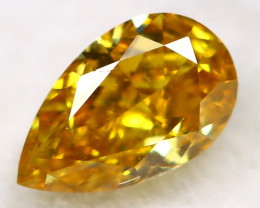 0.19Ct Yellow Orange Diamond Natural Untreated Fancy Diamond AT0489