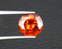FL 5.40 Cts Top Quality Supreme Color Orange Red Spessartite Garnet,