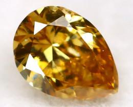 0.15Ct Yellowish Orange Diamond Natural Untreated Fancy Diamond AT0495