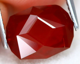 Mexican Cherry Red 2.60Ct Master Cut Natural Cherry Red Fire Opal A2701