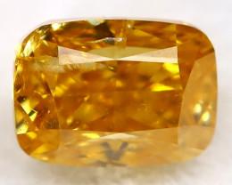 0.20Ct Yellowish Orange Diamond Natural Untreated Fancy Diamond AT0497