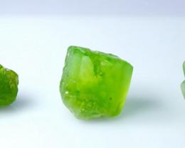60.80 CT Natural - Unheated Green  Peridot Rough Lot
