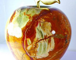 6800 CT Natural Onyx Carved Apple Special Shape
