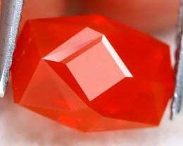 Mexican Reddish Orange Fire Opal 1.76Ct Master Cut Natural Fire Opal B2712