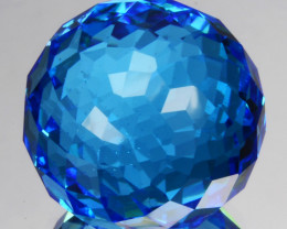 21.92Ct Natural Swiss Topaz Faceted Ball 13mm