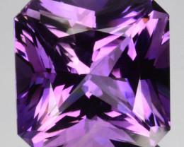 19.52Ct Natural Purple Amethyst  Fancy Square Brazil