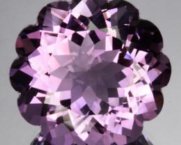 16.64Ct Natural Purple Amethyst  Custom Round cut Brazil