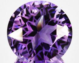 10.53Ct Natural Purple Amethyst  Custom Round cut 14mm Brazil