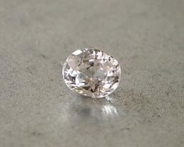 0.64ct unheated clean white sapphire