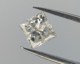 0.24 CTS , Princess Brilliant Cut Diamond , Natural white Diamond