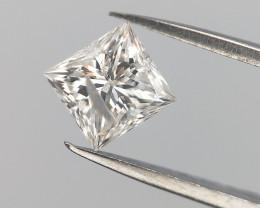 0.25 CTS , White Natural Diamond , Princess Brilliant Cut