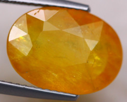 5.52Ct Natural Yellow Sapphire Oval Cut Lot Z514