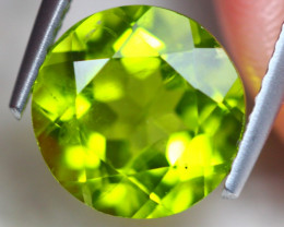 4.22ct Natural Green Peridot Round Cut Lot Z503