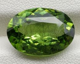 Peridot 10.95 carats Ludwigite / Peridot Rutile