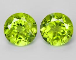 1.86 Cts 2pcs Pair Green Color Natural Peridot Gemstone