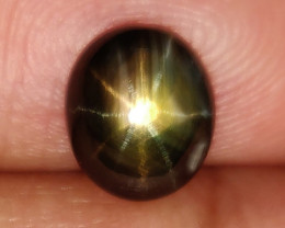 2.15 Cts Natural Untreated Black Star Sapphire Thailand