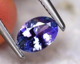 Tanzanite 0.86Ct Natural VVS Purplish Blue Tanzanite DF0105/D3