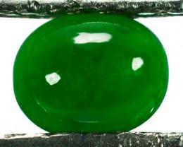 ~UNTREATED~ 0.67 Cts Natural Green Jade Cabochon Burmese