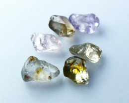 8.15 CT Natural - Unheated Multi Sapphire Rough Lot