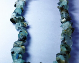 353 CT Natural - Unheated Blue Aquamarine Beads