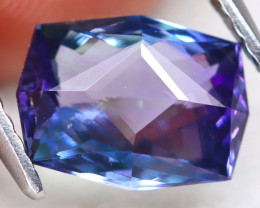 BiColor Peacock Tanzanite 1.61Ct VVS Master Cut Natural Tanzanite A2808