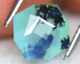 Paraiba Opal 1.82Ct Master Cut Natural Seaform Dendrite Blue Opal B2807