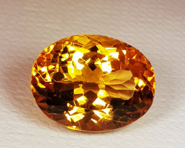 6.28 ct Exclusive Gem Oval Cut Natural Citrine