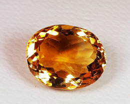 3.70 ct AAA Grade Gem Excellent Oval Cut Natural Citrine