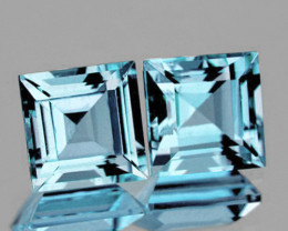 7.00 mm Square 2 pieces 4.55cts Sky Blue Topaz [VVS]