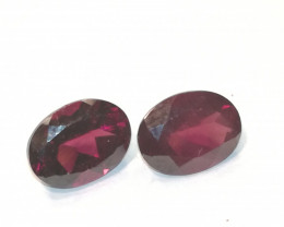 Rhodolite pair, 3.255ct, VVS, top colour and quality!!