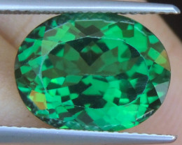 9.62cts, Green Topaz,